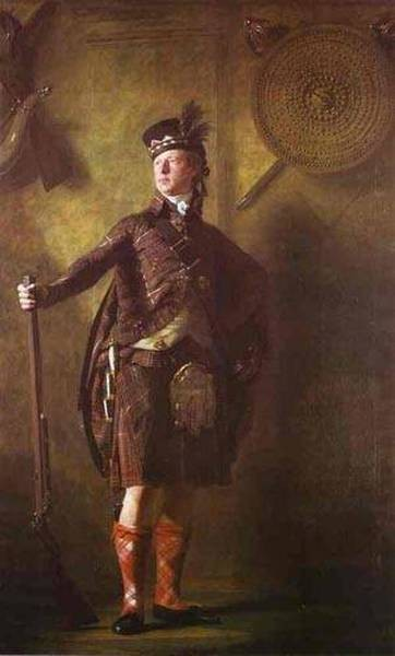 Portrait of colonel alasdair mcdonnell of glengarry 1812 xx edinburgh uk